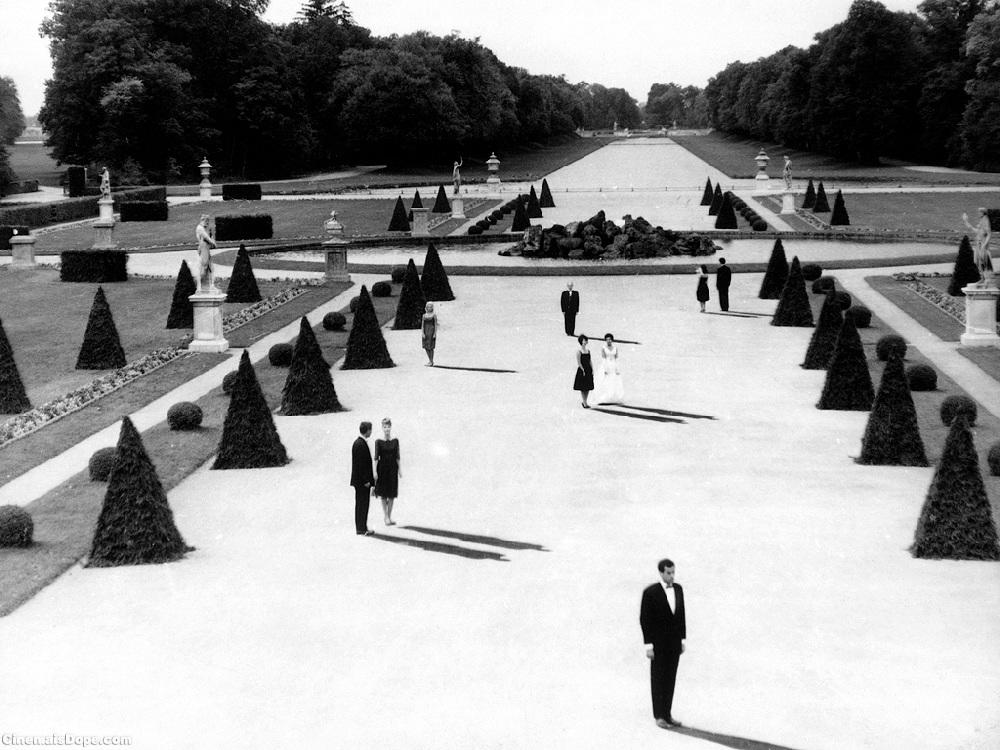 "Martin admires this landscape from the film ""Last Year at Marienbad"" for its space and surfaces."