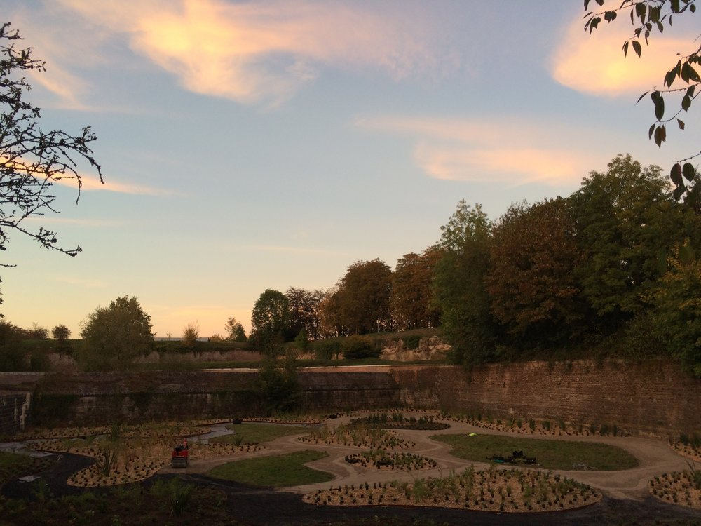"""""""Rangimarie"""" - the now completed NZ peace garden in Les Quesnoy, France."""