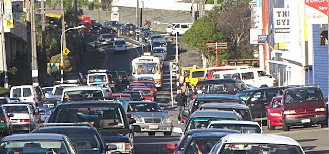 Traffic on Taranaki Street, Wellington. Image credit - Automotive News