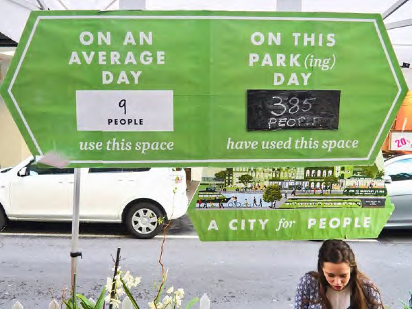 PARK(ing) Day. Image credit - MR Cagney.