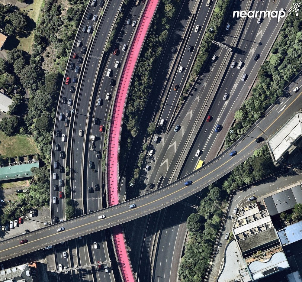 Auckland's Lightpath as captured by Nearmap.