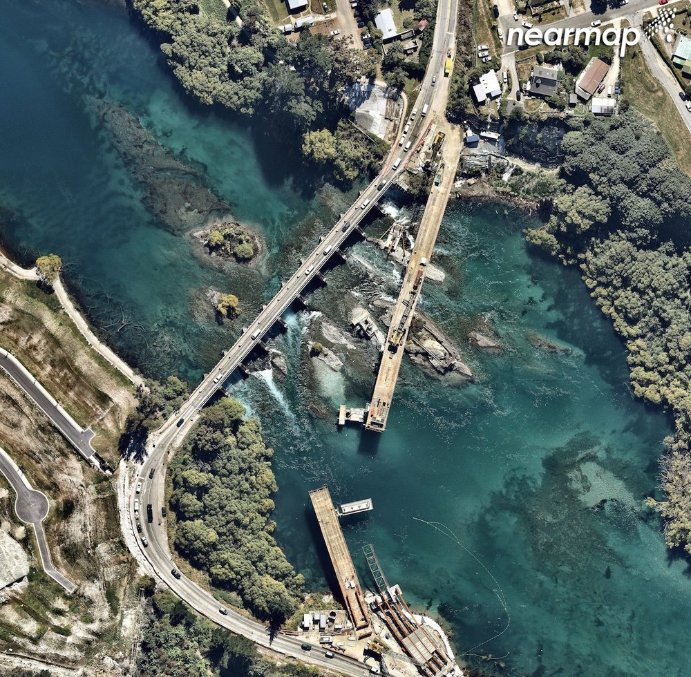 This Nearmap shot captures a slice of Queenstown's Lake Wakitipu.