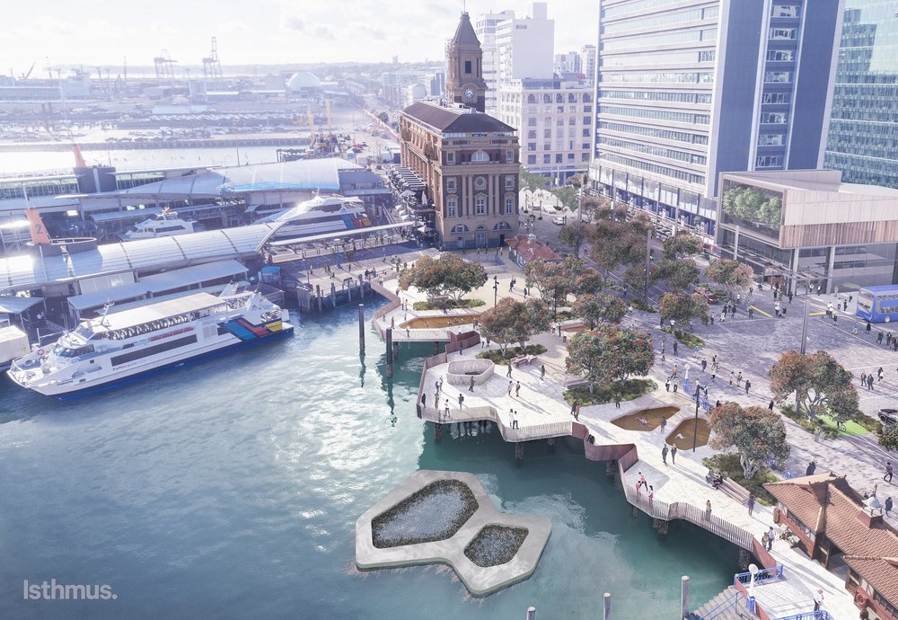 Auckland council says in three years the waterfront will be more welcoming and generous.