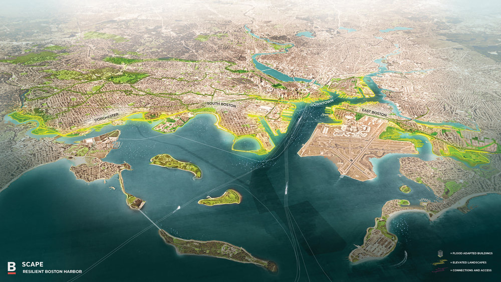 The 'Resilient Boston Harbor Vision' is the plan to reshape the city's shoreline to protect the city from major flooding events.