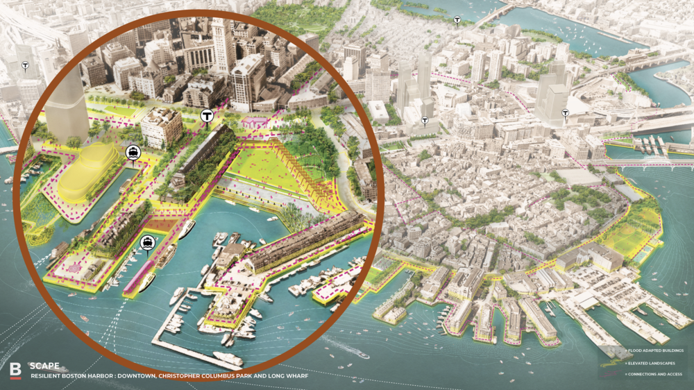 "SCAPE Studios say ""city-wide efforts like Boston's are crucial to planning physical, adaptive landscapes."""