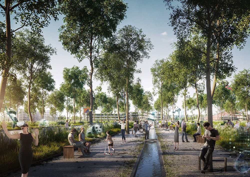 """HASSELL says its plan creates a """"connected, immersive and authentic Panda Trail across Chengdu to tell the conservation story of China's iconic giant panda, inviting visitors to explore, discover and dream."""