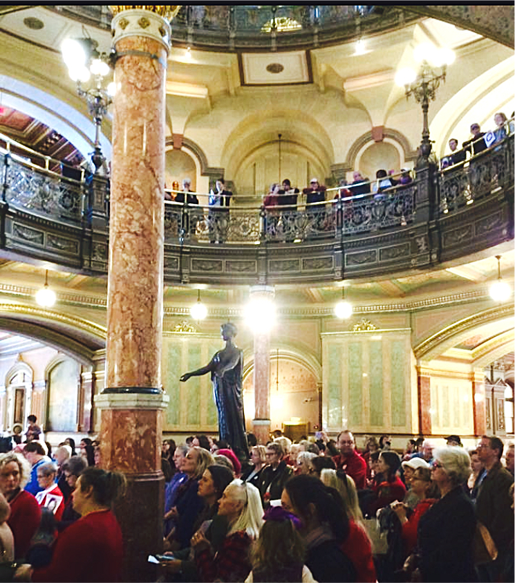 International Women's Day at the State Capitol Rotunda 2017