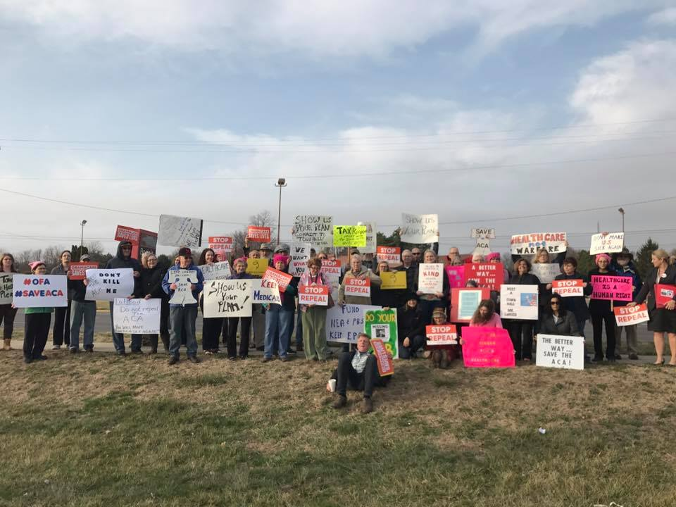 ACA Rally at Rep. Darin LaHood private event