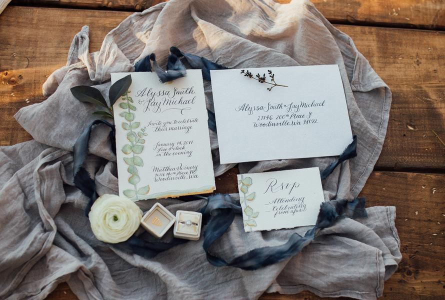 Stationery:  Ink & Sable  Image:  Kelsey Leigh Photography
