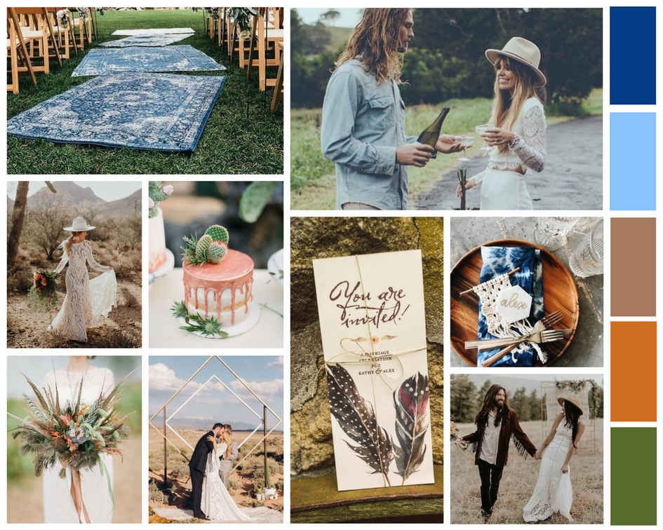 Mood board created by Rock & Stone Weddings, using  Canva