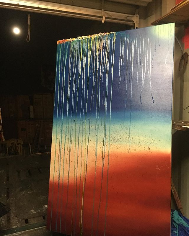 I'm digging the base later so far ( ) ( ) #art #sfart #sfartist #artwork #artist #painting #paint #oilpainting #gallerypainting #laart #nycart #brooklynart #londonart #losangelesart #painter #artcollector #artcurator #contemporaryart #modernart #abstractart #fineart #arte #paintingoftheday #abstractexpressionism #process #artstudio #artmarketsf #hunterspoint #sanfrancisco