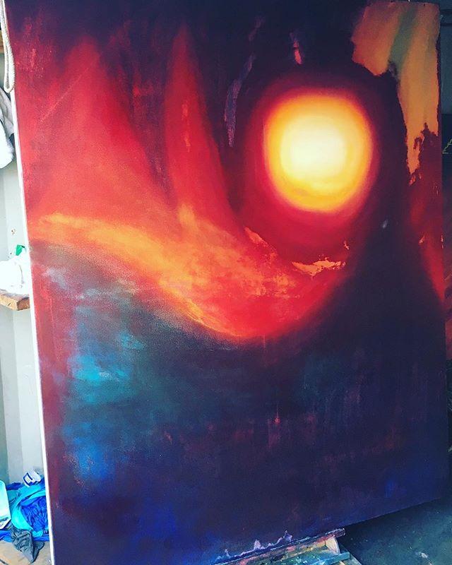 "The End - Oil on canvas - 72""x 60"" ( ) ( ) #art #sfart #sfartist #artwork #artist #painting #paint #oilpainting #gallerypainting #laart #nycart #brooklynart #londonart #losangelesart #painter #artcollector #artcurator #contemporaryart #modernart #abstractart #fineart #arte #paintingoftheday #abstractexpressionism #process #artstudio #artmarketsf #hunterspoint #sanfrancisco"