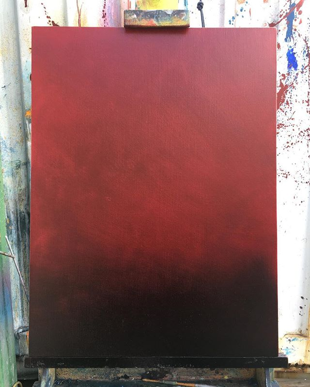 Initial layer.  Can't wait for this one, it's already telling a story ( ) ( ) #art #sfart #sfartist #artwork #artist #painting #paint #oilpainting #gallerypainting #laart #nycart #brooklynart #londonart #losangelesart #painter #artcollector #artcurator #contemporaryart #modernart #abstractart #fineart #arte #paintingoftheday #abstractexpressionism #process #artstudio #artmarketsf #hunterspoint #sanfrancisco