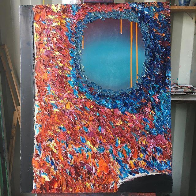 Red Sea -work in progress ( ) ( ) #art #sfart #sfartist #artwork #artist #painting #paint #oilpainting #gallerypainting #laart #nycart #brooklynart #londonart #losangelesart #painter #artcollector #artcurator #contemporaryart #modernart #abstractart #fineart #arte #paintingoftheday #abstractexpressionism #process #artstudio #artmarketsf #hunterspoint #sanfrancisco