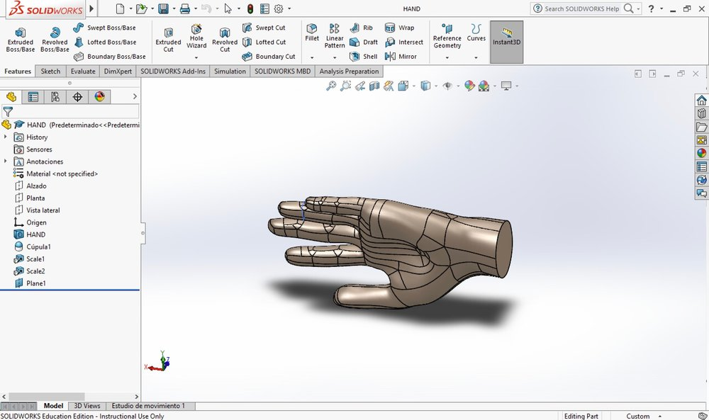 Perspective view screenshot from SolidWorks