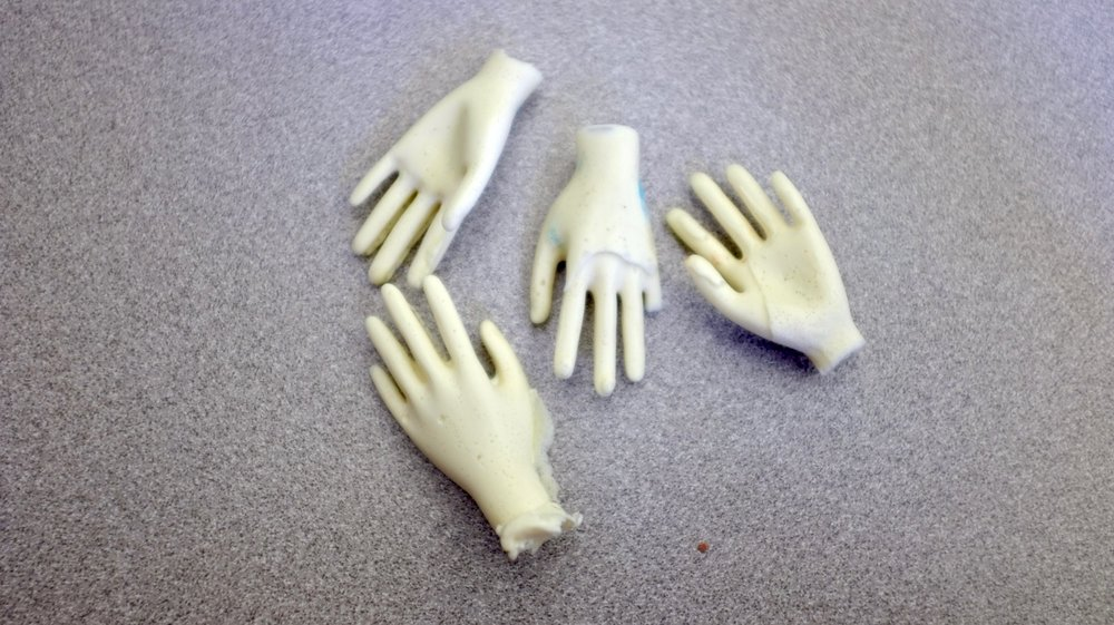 Imperfect casted hands (from imperfect molds)