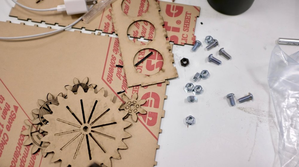 Laser cut gears and box