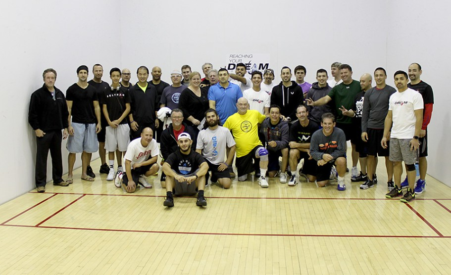 RYDF Players, Sponsors and Board members gather on court