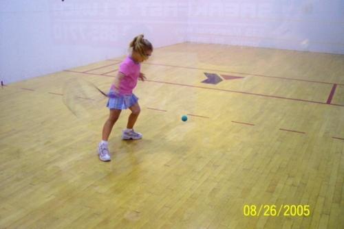 Jordan playing as a 6-year-old.
