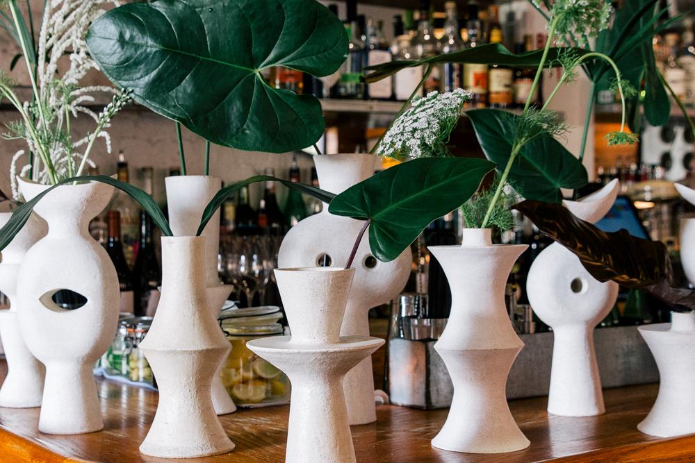 Humble Matter vases at the Matteau New York City Resort '19 dinner.