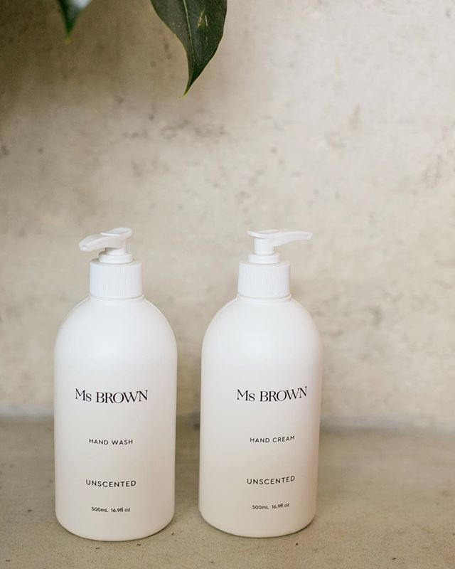 For the most sensitive of skins - Ms BROWN Hand Wash and Hand Cream is also available naturally fragrance free. With macadamia, shea and almond oils to nourish. Calendula and chamomile to soothe.
