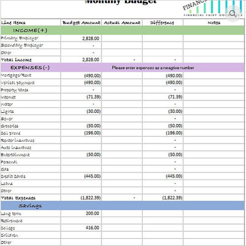 Do it yourself finances with fran monthly budget worksheet solutioingenieria Choice Image