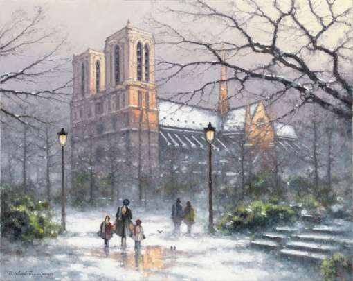 Winter Light over Notre Dame