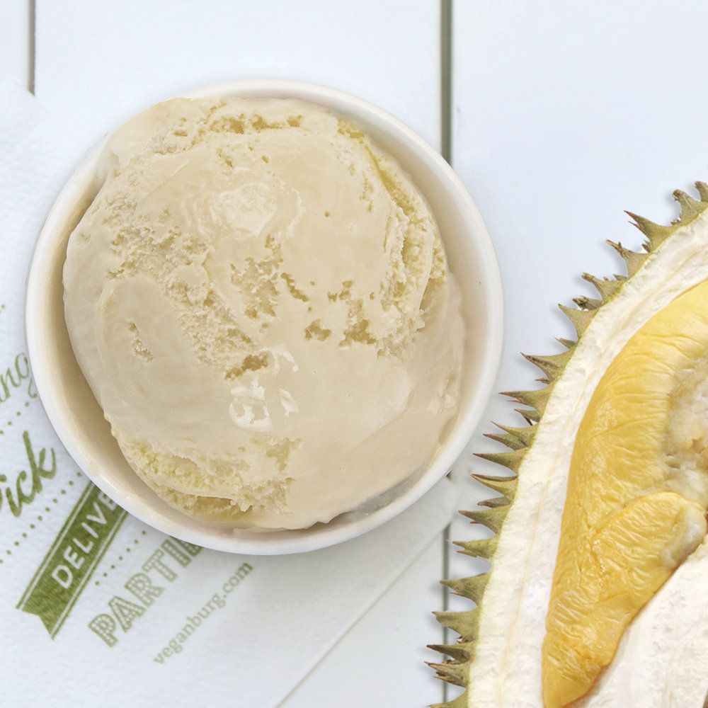 VeganBurg's new sorbet - D24 Durian Sorbet