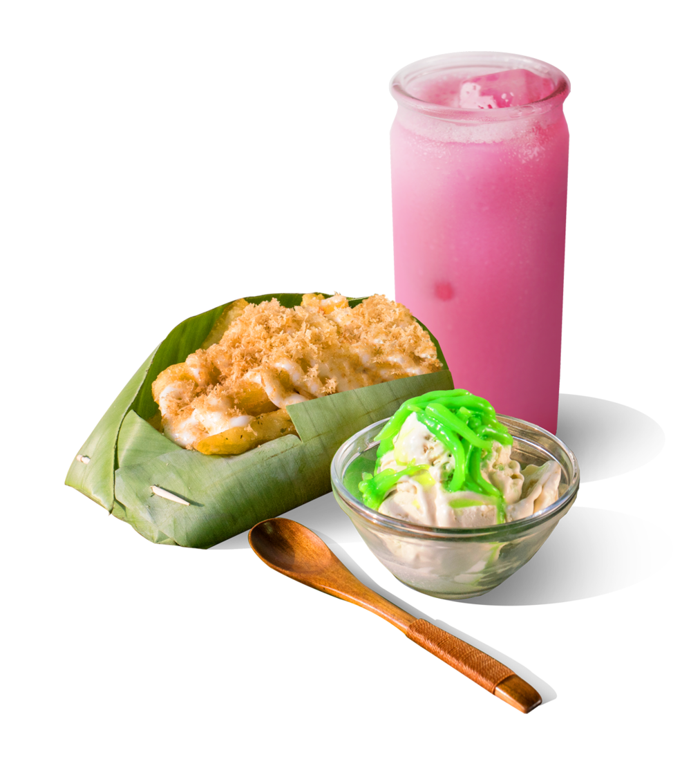 Rose Bandung drink, Coconut fries and Chendol ice-cream are part of our unique recipes and menu.