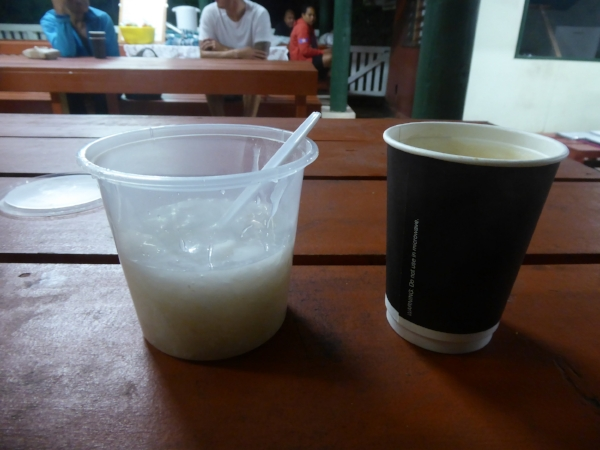 Niuean breakfast - porridge and coffee