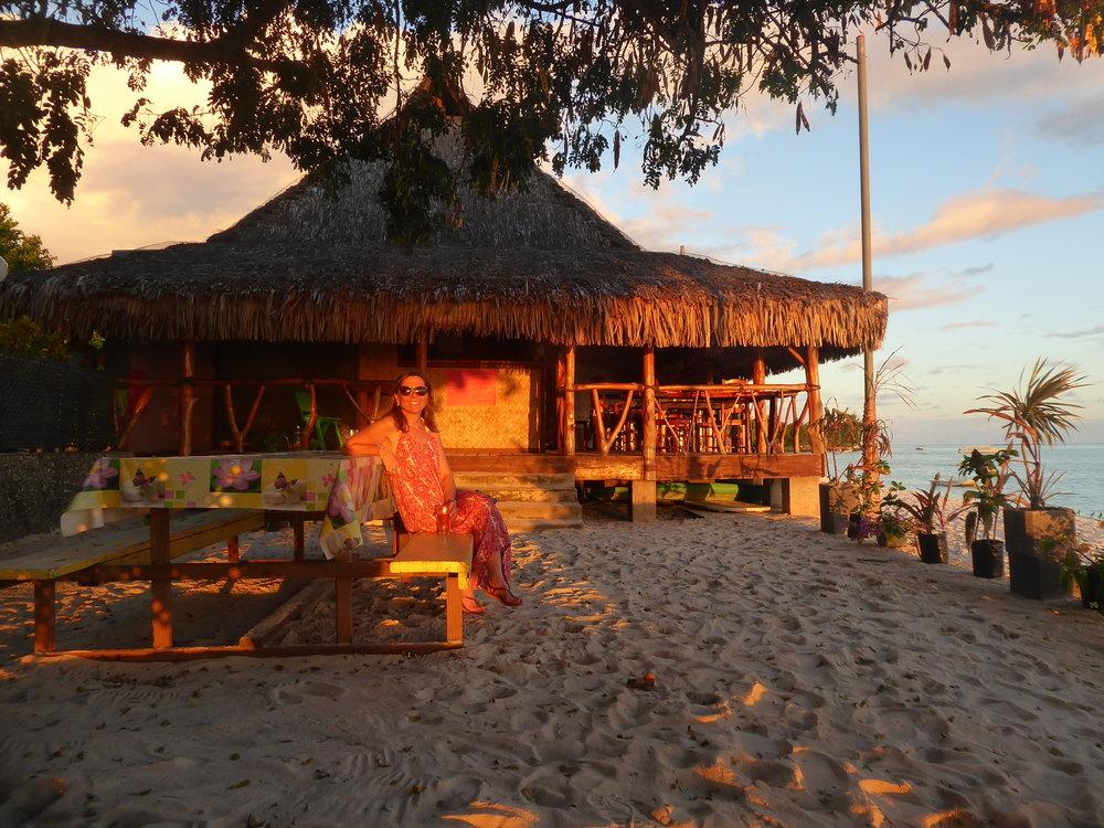 Sun set on Matira Beach