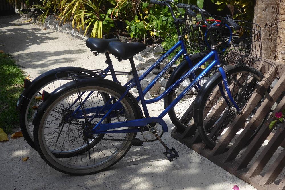 Typical bike for hire on Bora Bora