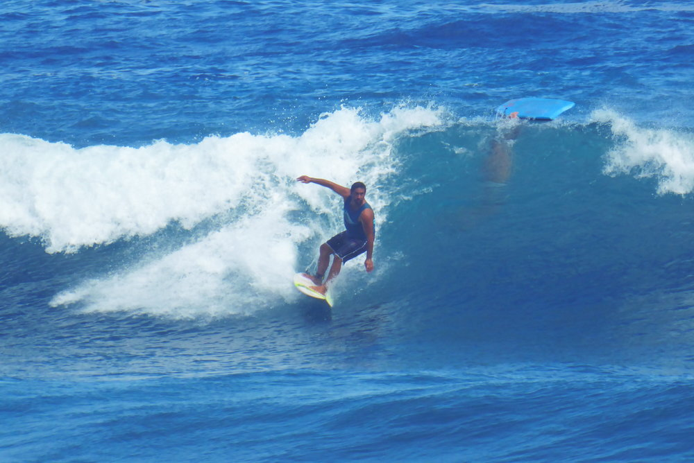 Surfs up all the time in Tahiti