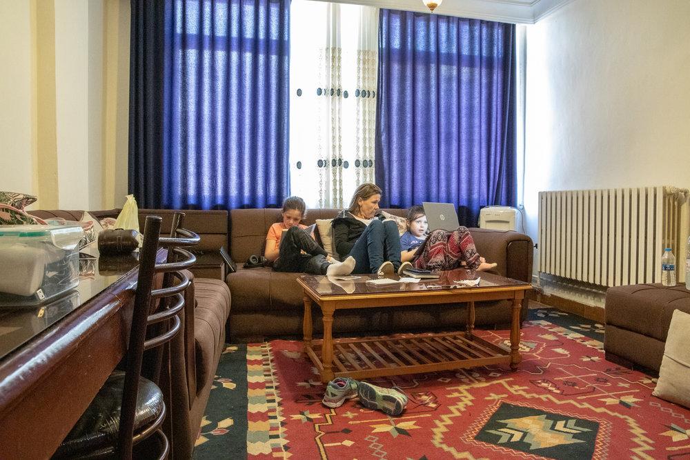 The lounge/classroom