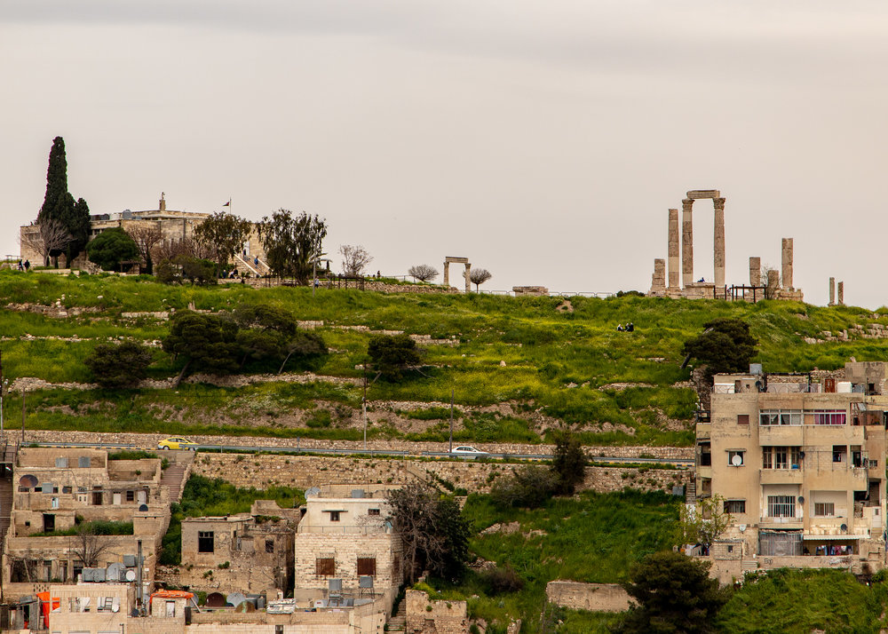 View across to Amman Citadel, situated on Jebel Al Qala'a