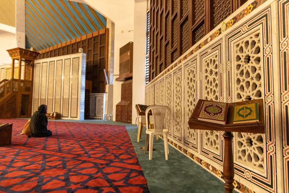 Inside view of King Abullah I Mosque