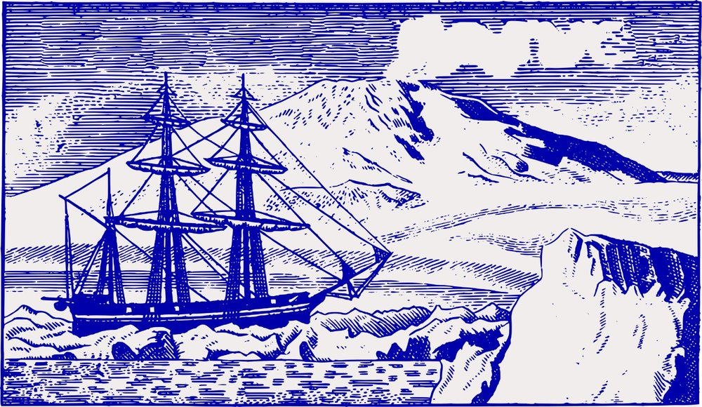 Old Ship at the South Pole, by j4p4n, openclipart.org