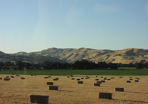 By No machine-readable author provided. Theblog assumed (based on copyright claims). [Public domain], via Wikimedia Commons. Fields of Capay Valley, Yolo County, Northern California.