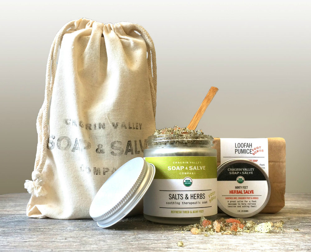 Chagrin Valley Natural Foot Care Products, image courtesy of Chagrin Valley Soap and Salve