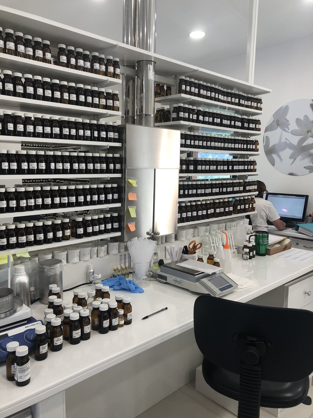 The fragrance lab in Grasse