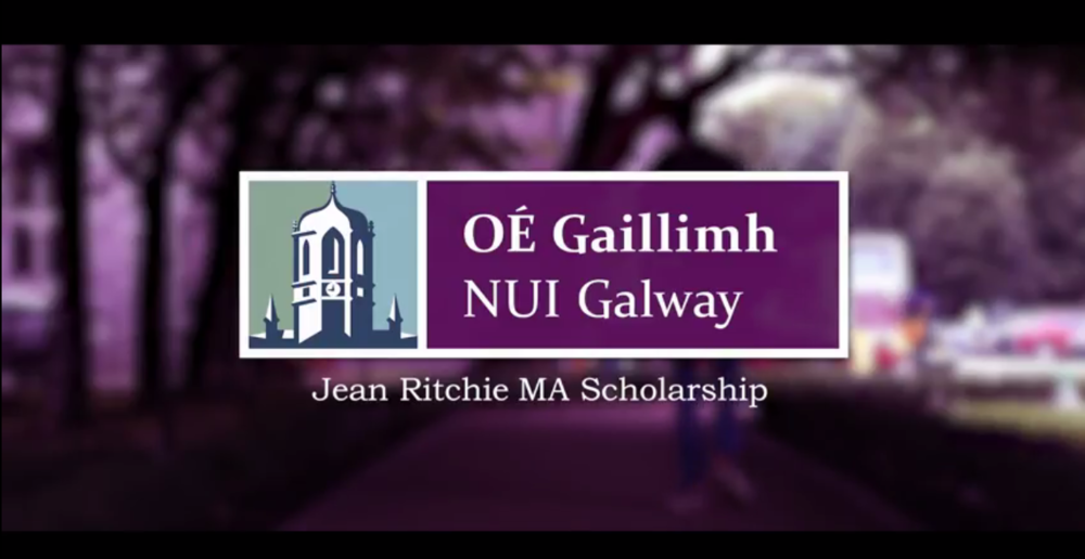 "Jean Richie MA Scholarship NUIG - Ethan Hamblin, Graduate of Berea College, Kentucky and Jean Ritchie Scholar at NUI Galway. The 'Jean Ritchie MA Scholarship,' named after the internationally known ballad singer, dulcimer player, and ""Mother of Folk"" music, has been awarded to Ethan Hamblin, a 2014 Berea College graduate.Hamblin is the inaugural recipient of the Jean Ritchie MA Scholarship, which is awarded to an outstanding Berea College student who has decided to pursue their Master's degree at National University of Ireland (NUI) Galway. Hamblin will receive a full-tuition scholarship, beginning in September, as he pursues his degree in Rural Sustainability. www.berea.edu/news/jean-ritchies-legacy-lives-scholarship-programhttps://www.facebook.com/SlipJigMedia/https://www.instagram.com/slipjigmedia1/https://twitter.com/slipjigmedia@slipjigmediahttps://www.nuigalway.ie/international-students/Study Abroad @ NUI Galway"