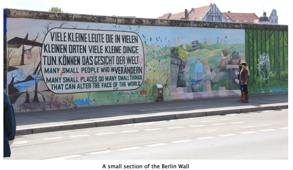 A small section of the Berlin Wall