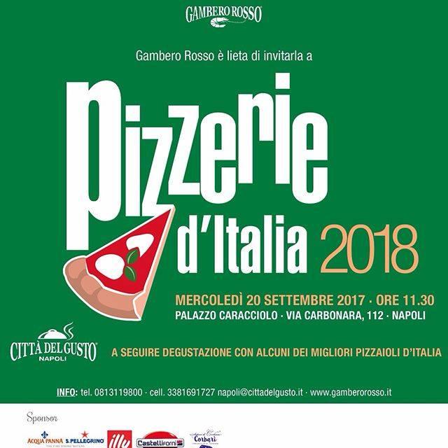Pizzerie d'Italia 2018 - Città del gusto