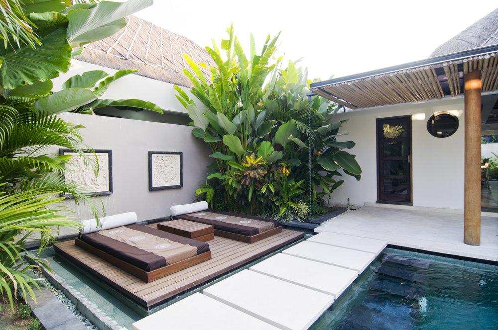 2 bedroom villa with a pool
