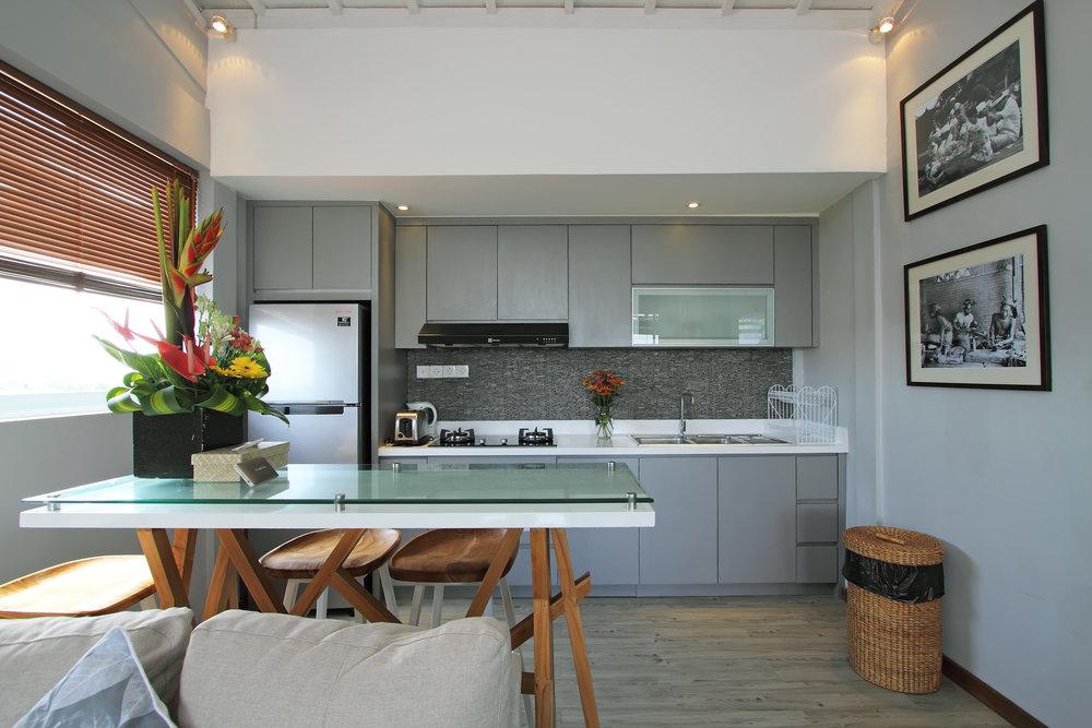 1 bedroom villa kitchen
