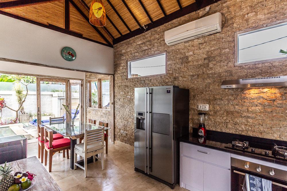 villa bunny living room kitchen bali