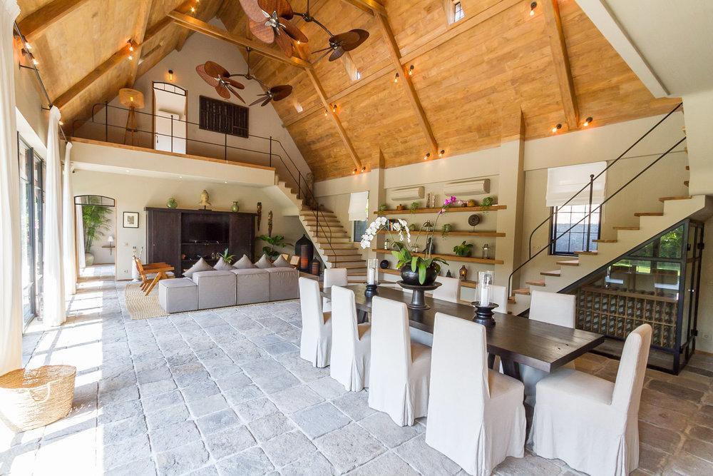 Villa Nehal seminyak living room bali management villas