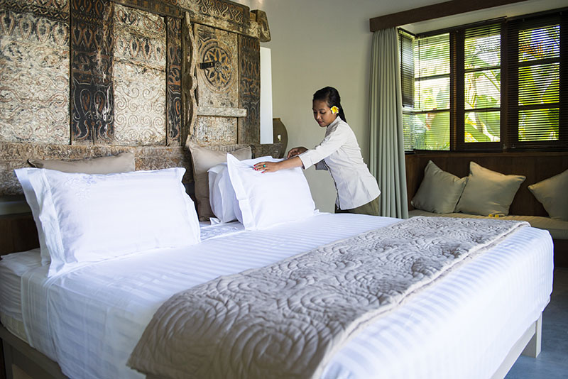 Housekeeping bali management villas