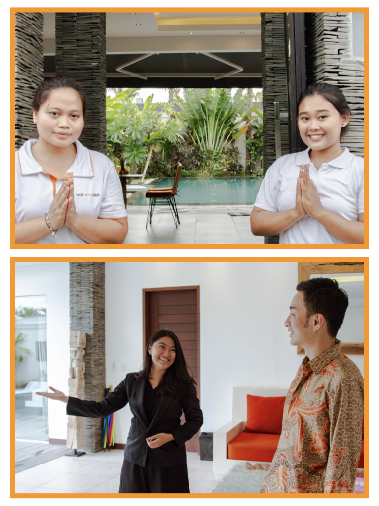 CHECK IN & CHECK OUT - We work to a high-hospitality standard, and we are convinced that you will never have a second chance at first impression.That is why we take time to know each villa and dig into its unique potential and showcase it to guests. When guests walk into the villa, our professional villa manager will make personal connections with the guests and be their main contact to solve every problem they may have during their stay.We showcase your villa as an exhibition of arts, so our villa manager will patiently introduce every feature and precaution of the villa. At the end of the orientation, we will take care of the ID documentations as required by the government.Our team will always be there, no matter the hours, to personally greet and assist the guests with their infectious friendliness in every step of their stay.