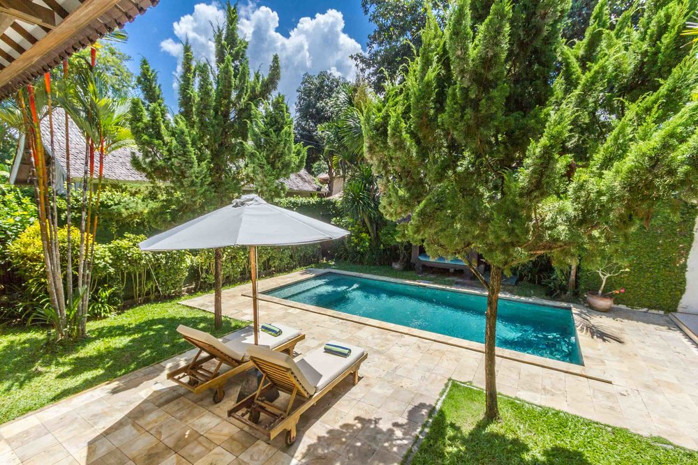 Beautiful and perfect villa in Seminyak with a lush garden and a private pool.